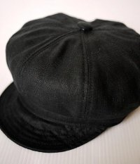 NEW YORK HAT #6225 LINEN SPITFIRE Black
