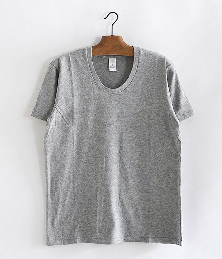 JIGSAW SUPIMA COTTON S/S U NECK T-SHIRT [TOP GRAY]