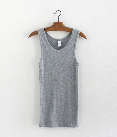 JIGSAW SUPIMA COTTON 2×2 RIB TANK TOP [TOP GRAY]