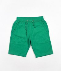 JIGSAW HEAVY WEIGHT FLEECE SWEAT SHORTS [GREEN]