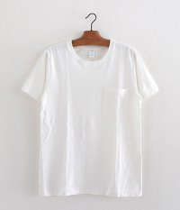 JIGSAW SUVIN COTTON S/S CREW NECK POCKET T-SHIRT [OFF WHITE]