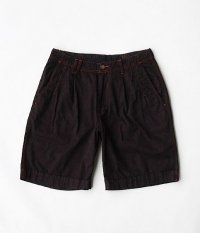 VOO RADICAL 別注 OVERDYE BLACK BIG SHORTS [RED]