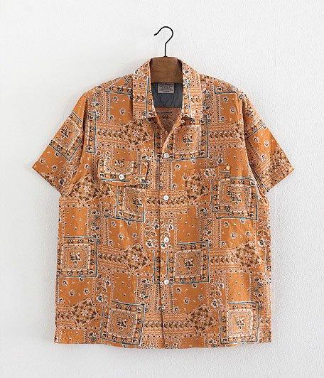ANACHRONORM Clothing Bandana Open Collar S/S Shirt [ORANGE]