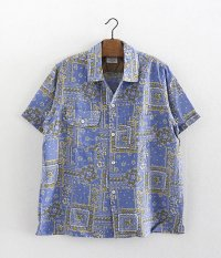 ANACHRONORM Clothing Bandana Open Collar S/S Shirt [BLUE]