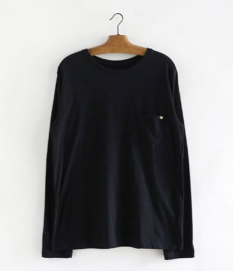 ANACHRONORM Standard C Neck Pocket  L/S T-shirt [BLACK]