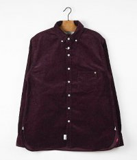 ANACHRONORM Clothing 14W Corduroy B.D Shirt [BORDEAUX]