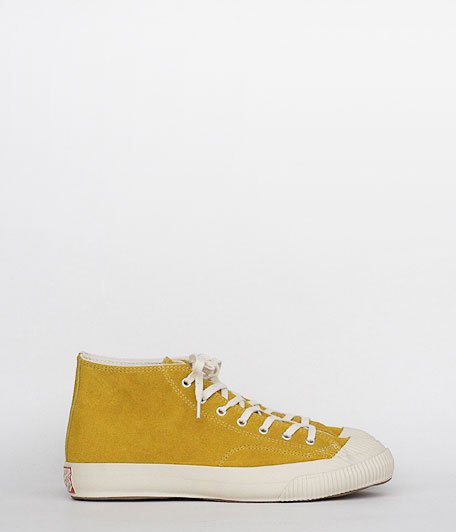 ANACHRONORM Reading PARADISE RUBEER Athletics Shoes MID OFF WHITE SOLE [MUSTARD]