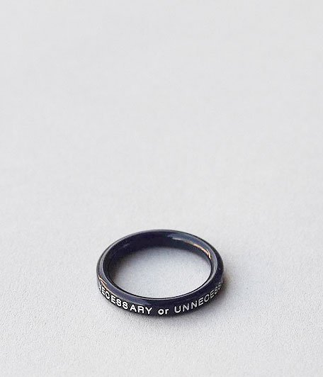 NECESSARY or UNNECESSARY BUTTON RING 2 INK [NAVY]