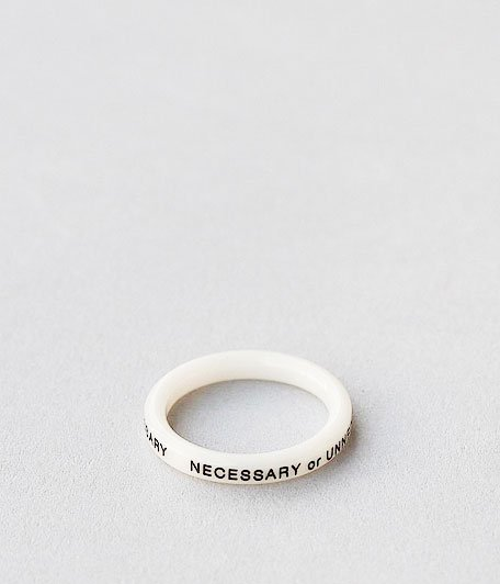 NECESSARY or UNNECESSARY BUTTON RING 2 INK [WHITE]