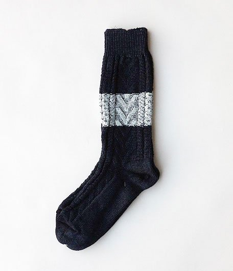 VOO INDIGO CABLE SOCKS [INDIGO×NATURAL]