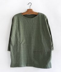 VOO CRAZY PATTERN 3/4 SWEAT [OLIVE]