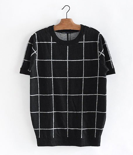 JIGSAW LINEN WINDOWPANE PULL-OVER [BLACK / GRAY]