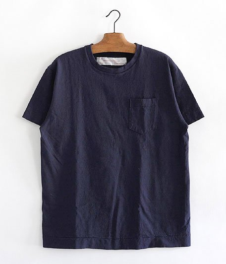 NECESSARY or UNNECESSARY POCKET TEE  [NAVY]