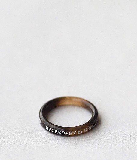 NECESSARY or UNNECESSARY BUTTON RING 2 INK [MARBLE]
