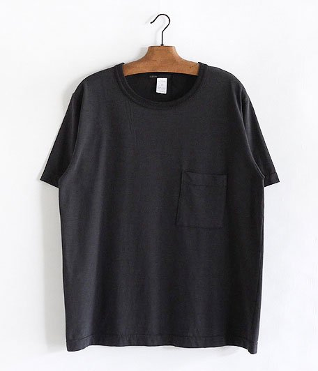 JIGSAW SUPIMA COTTON SLUB JERSEY S/S BIG T-SHIRT [CHARCOAL]