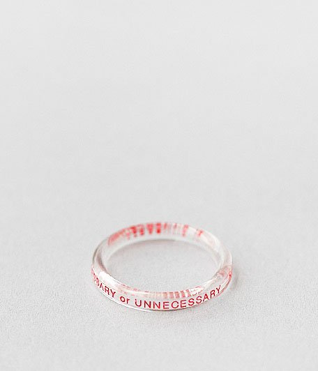 NECESSARY or UNNECESSARY BUTTON RING 2 INK [CLEAR]