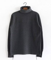 ANACHRONORM Waffle Face TurtleNeck Under-Shirt [CHARCOALTOP]
