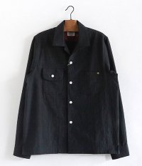 ANACHRONORM RADICAL別注 GLEN CHECK Open Collar Shirt [BLACK]