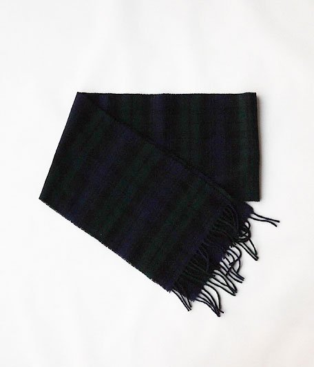 HIGHTLAND TWEED TARTAN SCARF [BLACK WATCH]