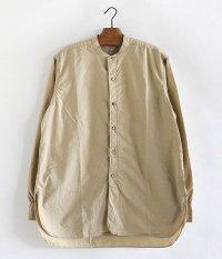 KAPTAIN SUNSHINE Band Collar Shirts [BEIGE]