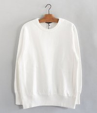 JIGSAW HEAVY WEIGHT FLEECE CREW NECK PULL-OVER [OFF WHITE]