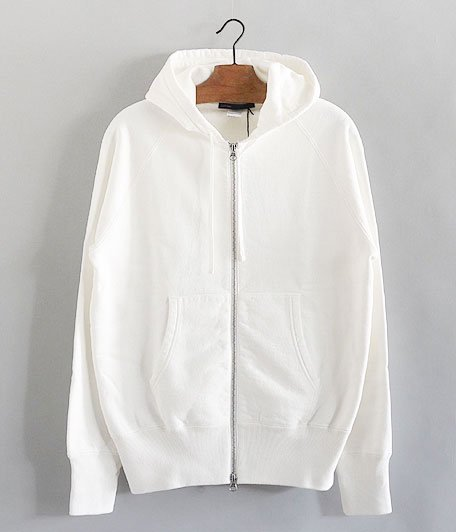 JIGSAW HEAVY WEIGHT FLEECE ZIP HOODY [OFF WHITE]