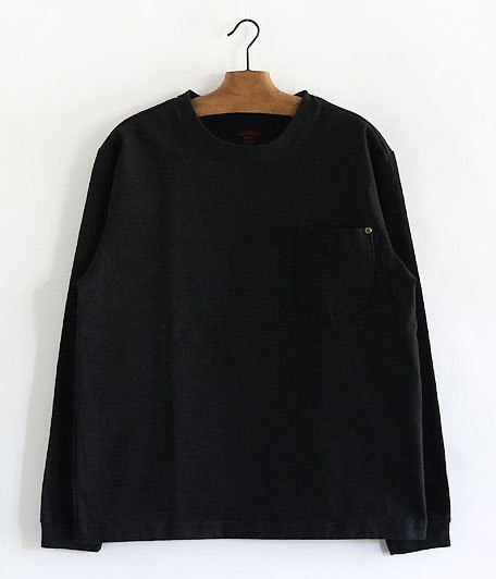 ANACHRONORM Standard Heavy Weight Pocket L/S T-shirt [BLACK]