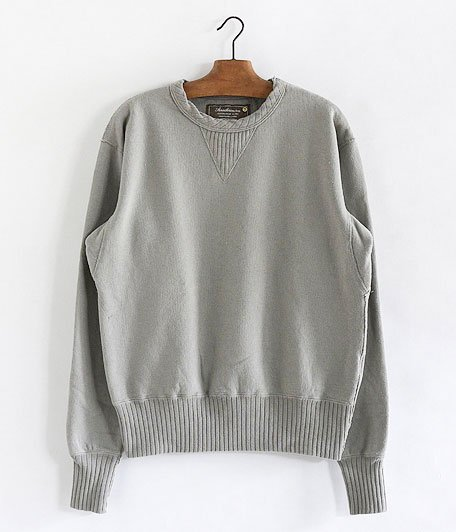 ANACHRONORM Fleece Crew Neck Sweatshirt [GRAY BEIGE]