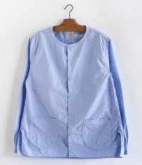 ANACHRONORM Pima Cotton Typewriter Shirt-Cardigan [SAX]