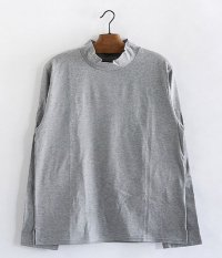 ANACHRONORM Silket Jersy Mocneck L/S TEE [GRAY TOP]