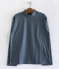 ANACHRONORM Silket Jersy Mocneck L/S TEE [BLUE GRAY]