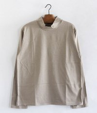ANACHRONORM Silket Jersy Mocneck L/S TEE [GRAY BEIGE]