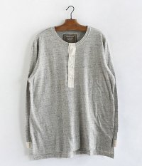 ANACHRONORM Nep Jersey Henley Neck Under-Shirt [GRAY TOP]