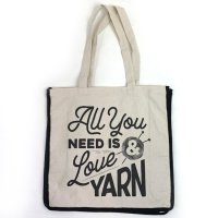 ライオンブランド・プリントトート All You Need Is Love and Yarn