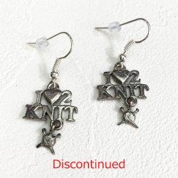 チャームピアス:I (Heart) 2 Knit