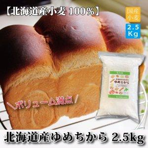 (北海道産)ゆめちからパン用強力粉2.5kg