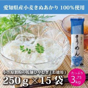愛知県産小麦使用 「碧海の恵み」そうめん 1ケース(15束セット)