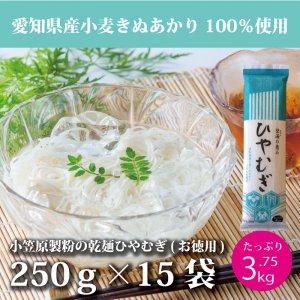 愛知県産小麦使用 「碧海の恵み」ひやむぎ 1ケース(15束セット)