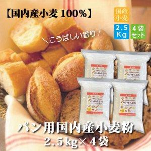 <img class='new_mark_img1' src='https://img.shop-pro.jp/img/new/icons25.gif' style='border:none;display:inline;margin:0px;padding:0px;width:auto;' />パン用 国内産小麦粉2.5kg×4袋