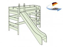 ロフトベッド FLEXIMO / 滑り台付き / H155 / マットレスセット