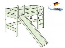 ミニロフトベッド FLEXIMO / 滑り台付き / マットレスセット