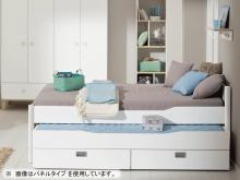 YLVIE シングルベッド / 白 / (ツインパネル)