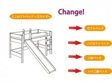 組み替え部品セット / BIANCOMO / ミニロフトベッド 滑り台付きからの組み替え