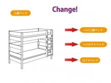 組み替え部品セット / BIANCOMO / 二段ベッドからの組み替え