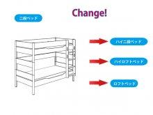 組み替え部品セット / YLVIE/ 二段ベッドからの組み替え