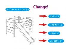 組み替え部品セット / YLVIE/ ミニロフト 滑り台付きからの組み替え