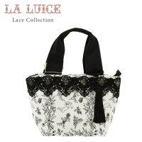 LALUICE/タッセル付き・レース飾り/ボタニカルゴシック/ミニトートバッグ/黒