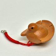 江戸木彫刻 ふくら雀