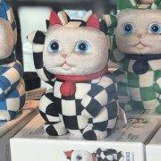 江戸木目込人形 招き猫 TOKYO2020 OFFICIAL 黒