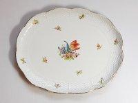 ヘレンド トレイ■チューリップブーケ 花束 プレート 楕円 皿 1級品